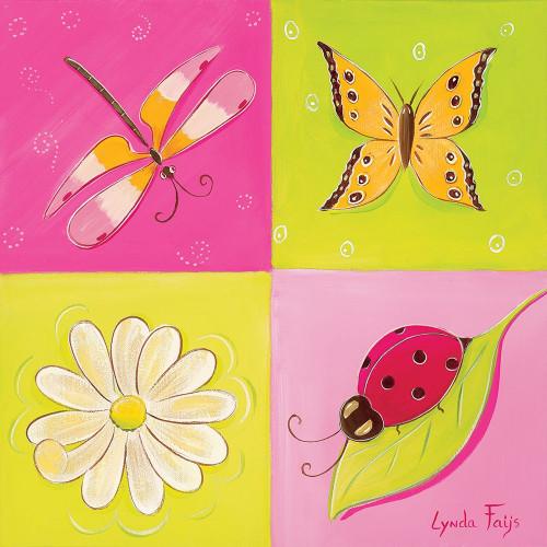 Le jardin de libellule II Poster Print by Lynda Fays # A362