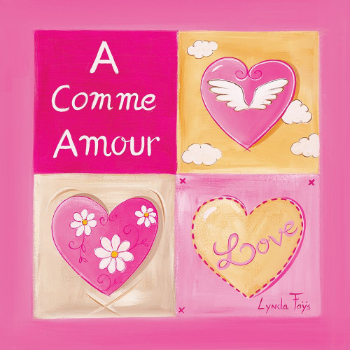 A comme Amour Poster Print by Lynda Fays # A358
