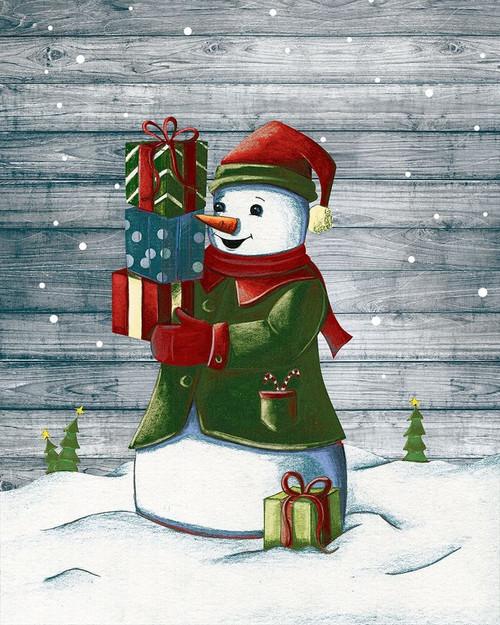 Christmas Snowmen II Poster Print by Josefina Josefina # 9615E