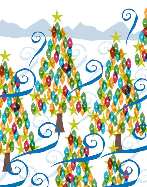 Holiday Times Pattern I Poster Print by Nicholas Biscardi # 9611