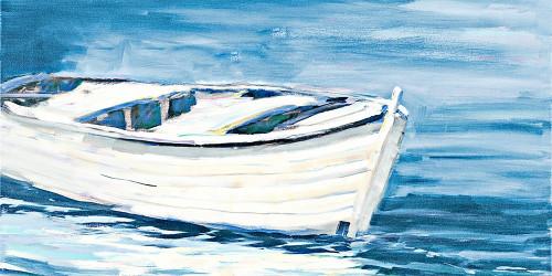 Shoreside Boat Poster Print by Jane Slivka # 9500BB