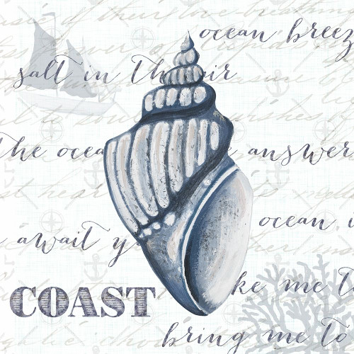 Indigo Shell IV Poster Print by Gina Ritter # 9503JB