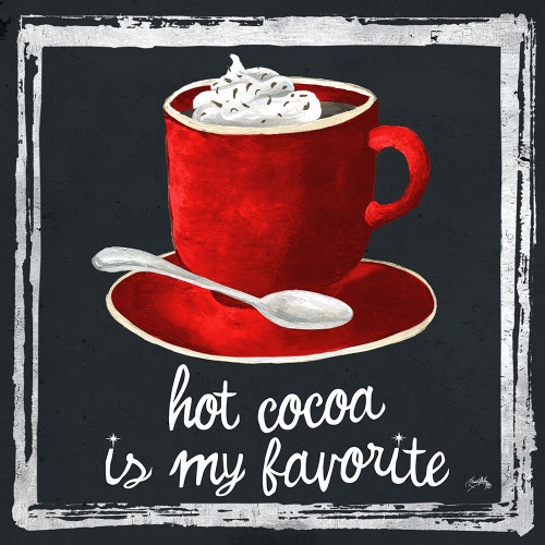 Whimsical Hot Cocoa Holiday I Poster Print by Elizabeth Medley # 9513L