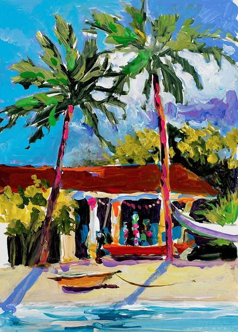 Caribbean Shore Poster Print by Jane Slivka # 9268N