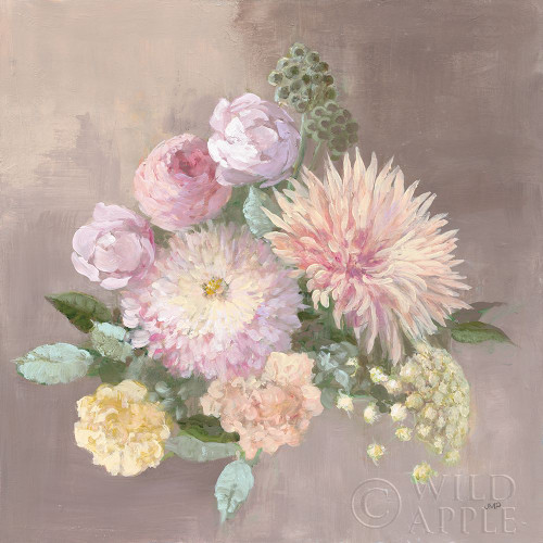 Pale Floral Spray I Poster Print by Julia Purinton # 65158