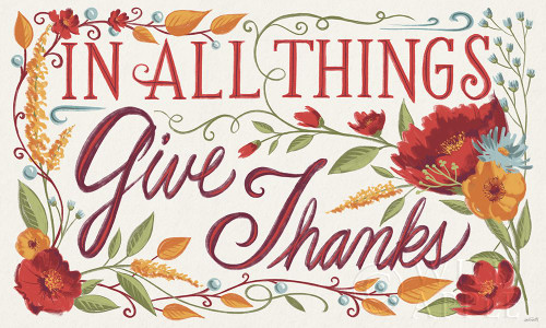 Give Thanks I Poster Print by Anne Tavoletti # 64951