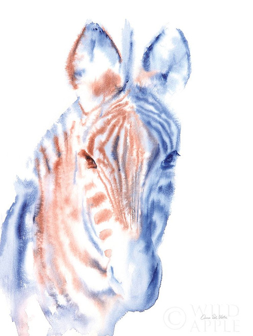 Copper and Blue Zebra Poster Print by Aimee Del Valle # 64964