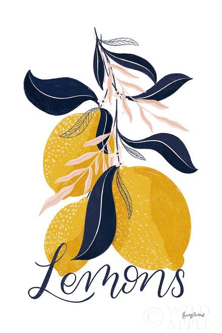 Lemons I Poster Print by Becky Thorns # 64702
