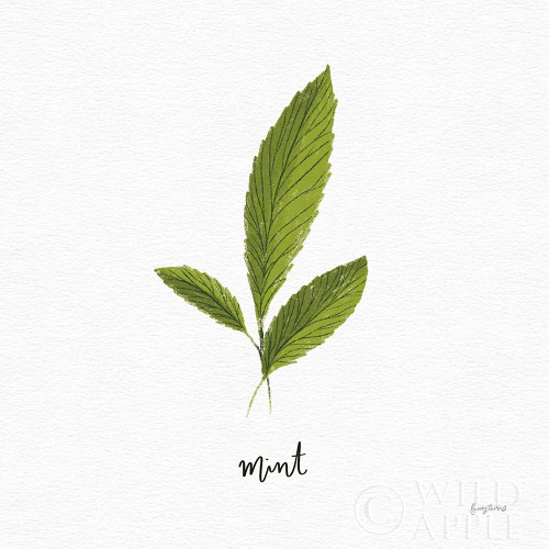 Herbs VII White Poster Print by Becky Thorns # 64695