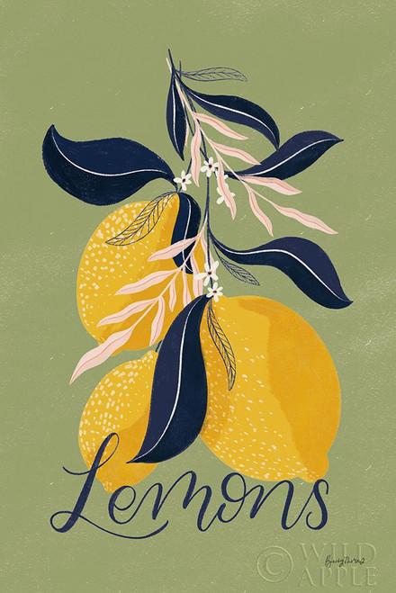 Lemons I Green Poster Print by Becky Thorns # 64704