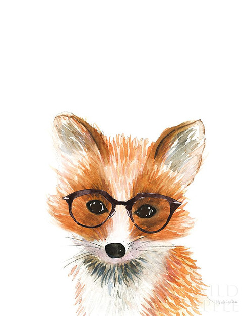 Fox in Glasses Poster Print by Mercedes Lopez Charro # 64167