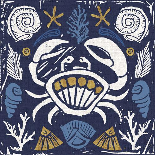 Primitive Sea VII Dark Poster Print by Daphne Brissonnet # 63868