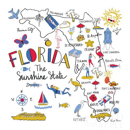 Florida Poster Print by Farida Zaman # 63970