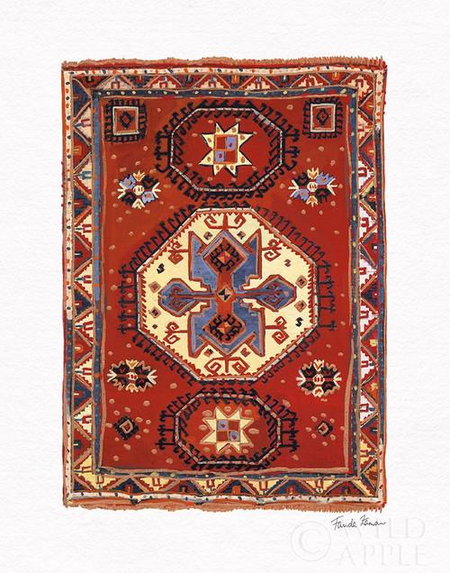 Moroccan Rug I Poster Print by Farida Zaman # 64029