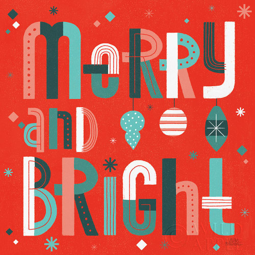 Retro Holiday IV Red Poster Print by Laura Marshall # 65874
