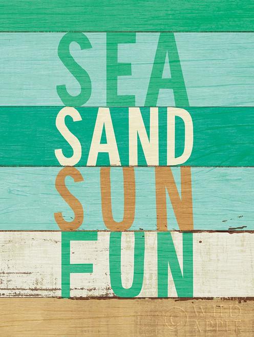 Beachscape Inspiration VIII Green Poster Print by Michael Mullan # 63518