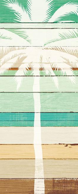 Beachscape Palms IV Green Poster Print by Michael Mullan # 63523