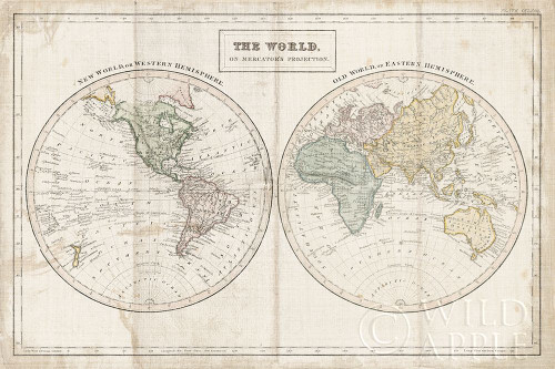 Old World Eastern Western Linen v2 Poster Print by Wild Apple Portfolio Wild Apple Portfolio # 63453