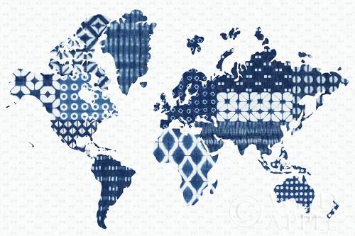 Shibori Map Poster Print by Nancy Green # 63467