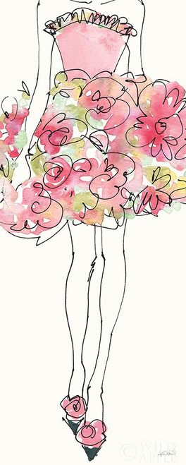 Floral Fashion Shoulders I Pink Poster Print by Anne Tavoletti # 63196