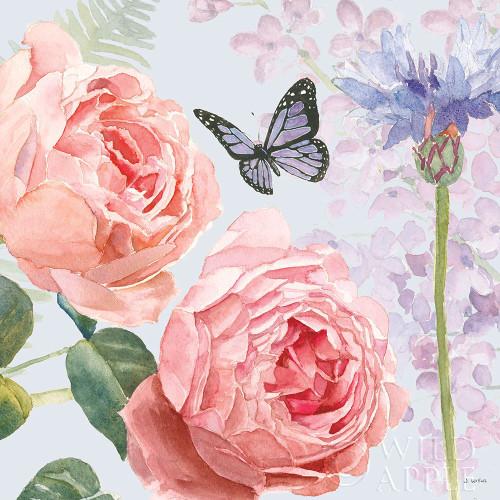 Boho Bouquet II Blue Poster Print by James Wiens # 62648
