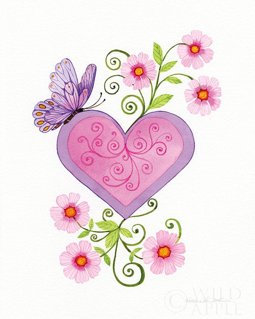 Hearts and Flowers IV Poster Print by Kathleen Parr McKenna # 62700