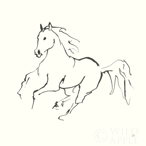 Line Horse III Poster Print by Chris Paschke # 62491