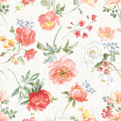 Floral Focus Pattern IA Poster Print by Beth Grove # 62336
