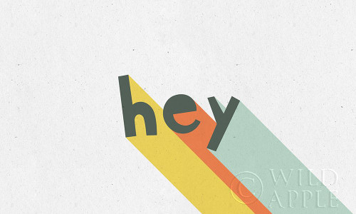 Rainbow Words VIII Poster Print by Moira Hershey # 61738
