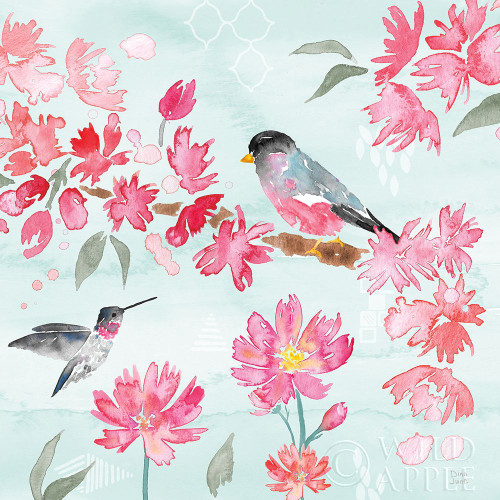 Flowers and Feathers IV Poster Print by Dina June # 62264