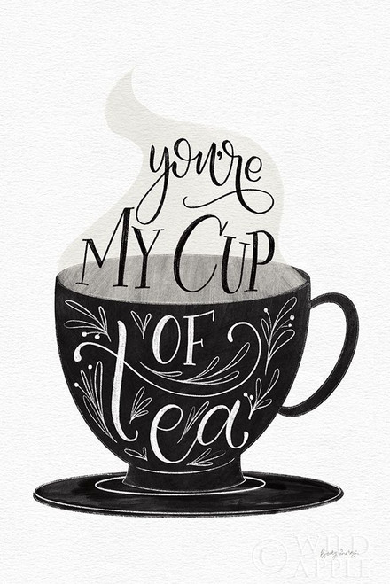 My Cup of Tea BW Poster Print by Becky Thorns # 61427