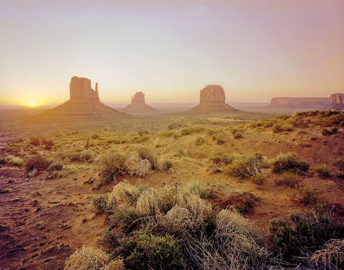 Dawn in the Desert Poster Print by Ed Goldstein # 61482