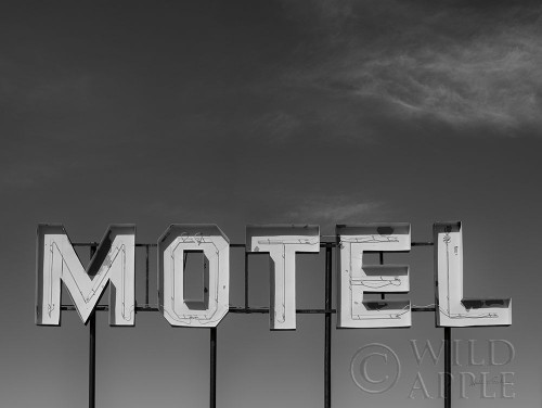Beach Motel BW Poster Print by Andre Eichman # 61269