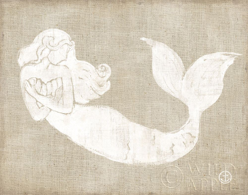 On the Waves II Burlap Poster Print by Sue Schlabach # 61126