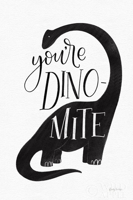 Dinomite BW Poster Print by Becky Thorns # 61425