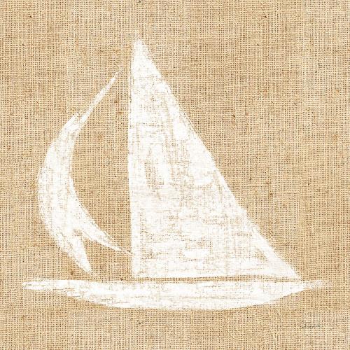 Driftwood Coast II White Burlap Poster Print by Sue Schlabach # 61117