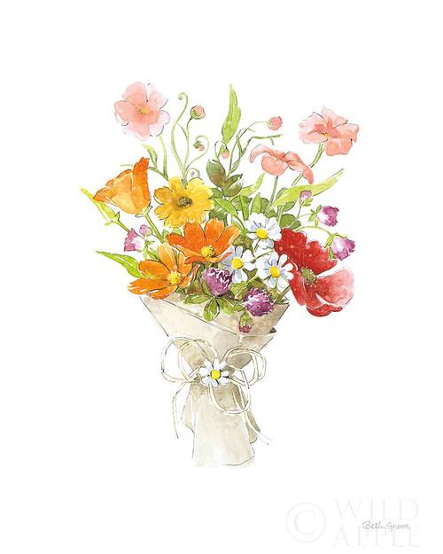 Farmhouse Floral V White Poster Print by Beth Grove # 61162
