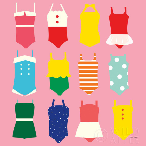 Bathing Suits Galore Poster Print by Ann Kelle # 61299