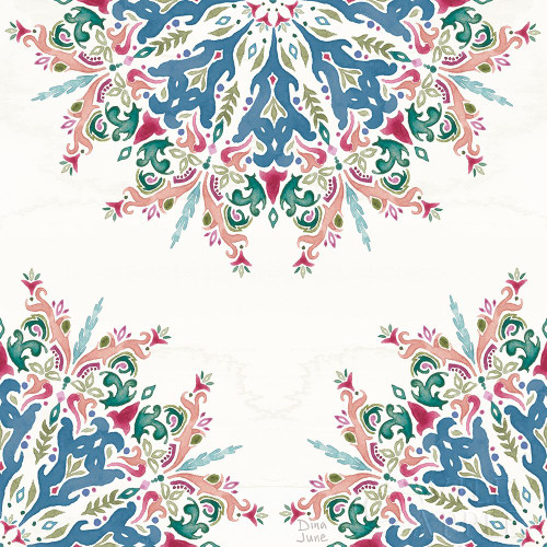 Bohemian Vibes Pattern VIIIA Poster Print by Dina June # 60804