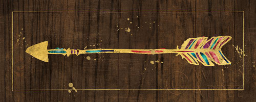 Beautiful Arrows IV on Wood No Words Poster Print by Pela Studio Pela Studio # 60646