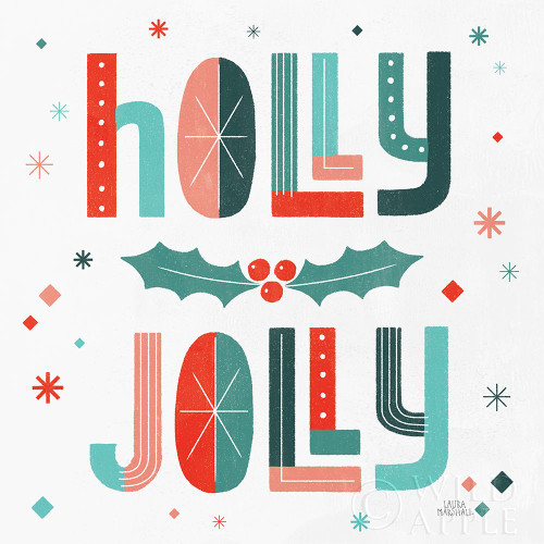 Retro Holiday V Poster Print by Laura Marshall # 60430