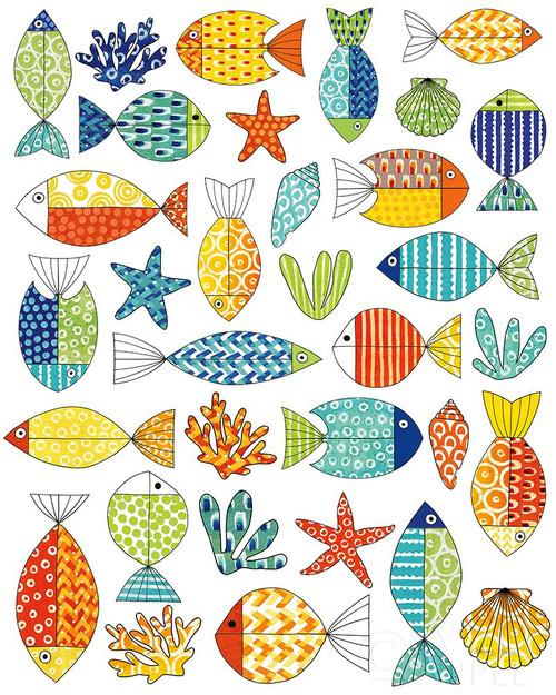 Fish Tale IV Poster Print by Nancy Green # 60461