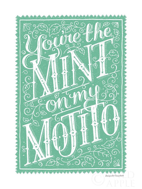 You are the Mint Poster Print by Alexandra Snowdon # 60081