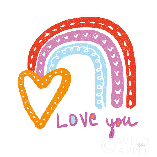 Love You Rainbow Poster Print by Melissa Averinos # 59979