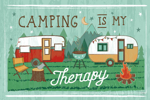 Comfy Camping VIII Poster Print by Melissa Averinos # 59744