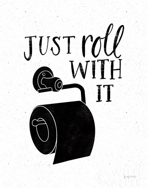 Bathroom Puns V Black Poster Print by Becky Thorns # 58373