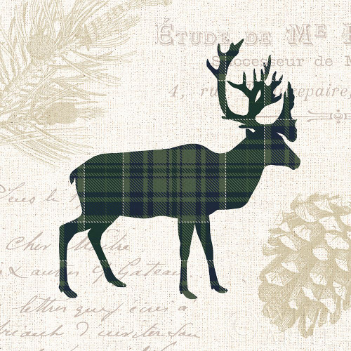 Plaid Lodge I Navy Green Poster Print by Wild Apple Portfolio Wild Apple Portfolio # 59707