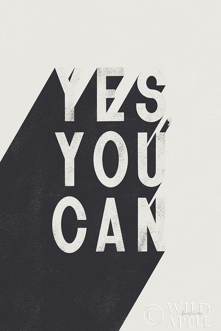 Yes You Can BW Poster Print by Becky Thorns # 59635