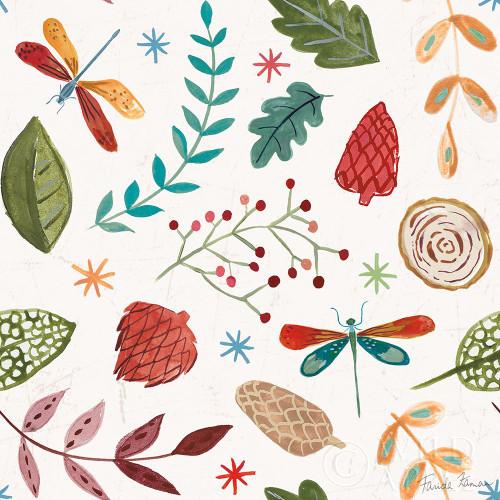Whimsical Woodland Pattern IV Poster Print by Farida Zaman # 58244
