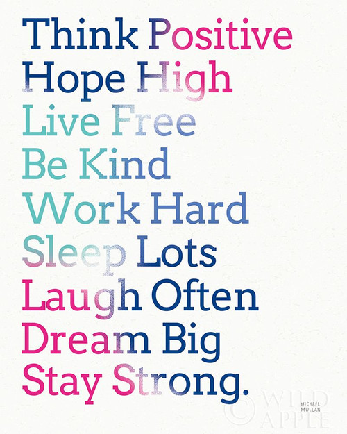 Key to Happiness I Hot Pink Poster Print by Michael Mullan # 58408